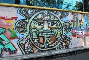 Aztec Calendar Mural Graffiti